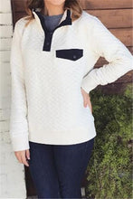 Fashion High Collar Button Long Sleeve Sweater