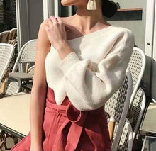 Fashion Sexy Strapless Knit Long Sleeves