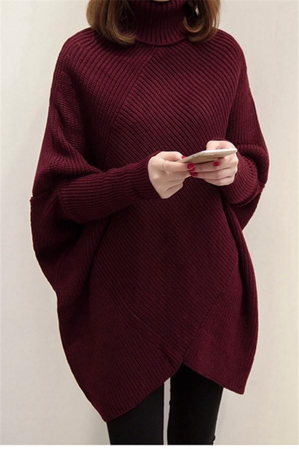 Fashion Headband Solid Color Sweater Claret one size