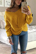 Sexy V-Neck Long-Sleeved Sweater
