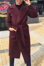 Pure Color Lapel With Plush Long Coat