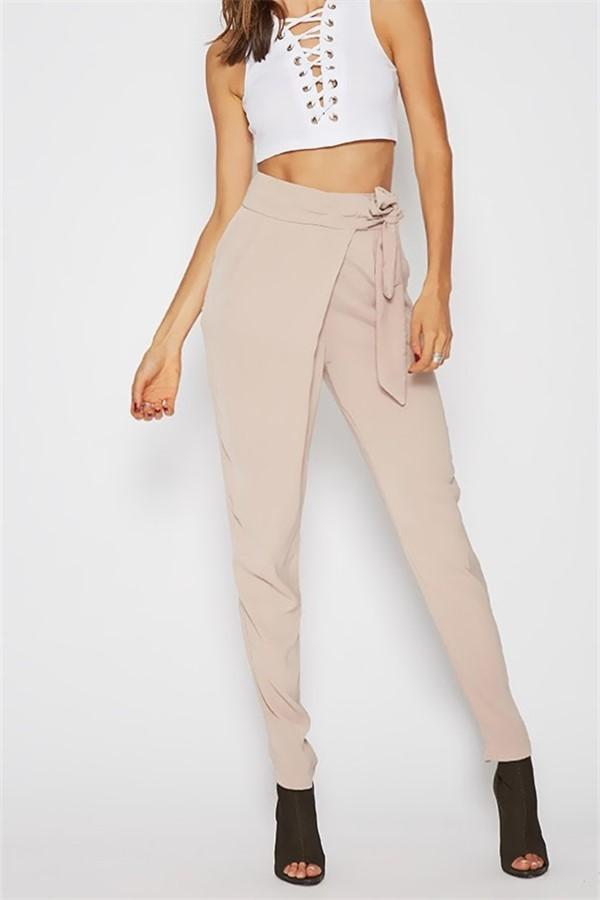 Fashion Wild Casual Solid Color Pencil Pants Pink m