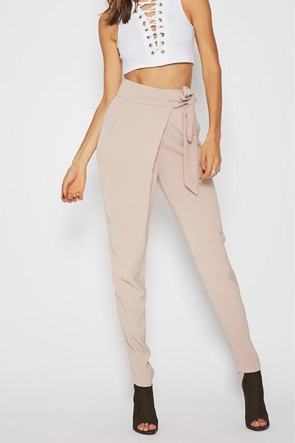 Fashion Wild Casual Solid Color Pencil Pants Pink s