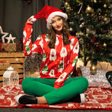 Christmas Fashion Bear Print Pullover Sweater Same As Photo xl