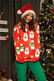 Christmas Fashion Bear Print Pullover Sweater Same As Photo m
