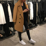 Fashion Solid Color Lapel Woollen Outerwear Same As Photo m