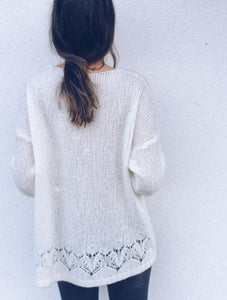 Sexy Hollowed-Out Sweater Thin Knit Cardigan Dark Grey s