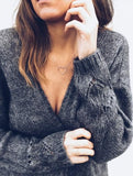 Sexy Hollowed-Out Sweater Thin Knit Cardigan Dark Grey xl