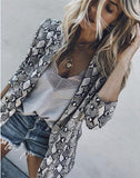 Snakeskin Suit Jacket Coat 1 m