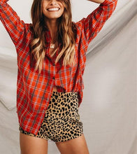 Plaid Oversize Long Sleeve Shirt
