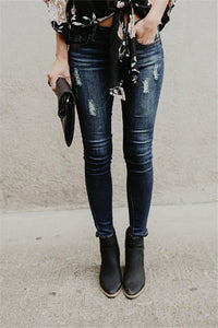 Ripped Jeans  And Slim Pencil Jeans Blue s