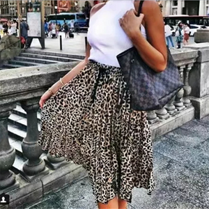 Fashion New Leopard Print Loose Dress Leopard Print m