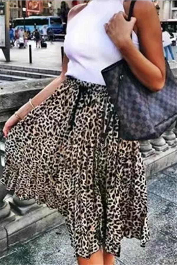 Fashion New Leopard Print Loose Dress Leopard Print s