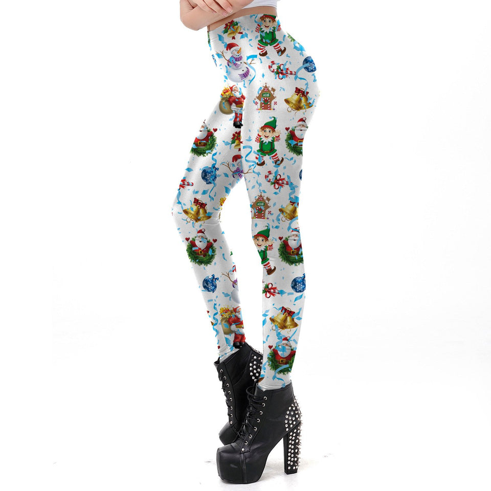 Christmas Festivals   Printed Long Pants Same As Photo l