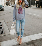 Fashion Trend Round Collar Long Sleeve Letters Leisure Jacket Dark Grey m
