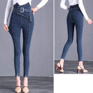 The Flower Bud Shows Thin Jeans Light Blue s