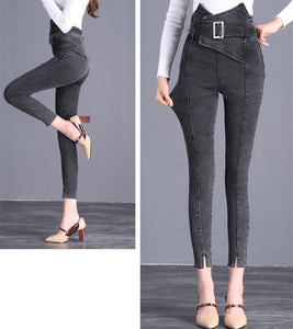 The Flower Bud Shows Thin Jeans Black s