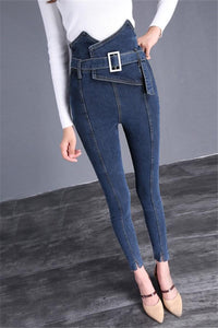 The Flower Bud Shows Thin Jeans Blue s