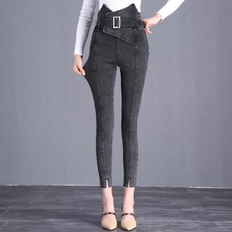 The Flower Bud Shows Thin Jeans Gray xl