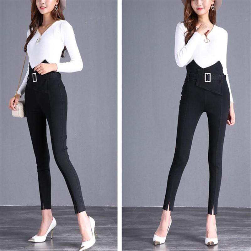 The Flower Bud Shows Thin Jeans Black m