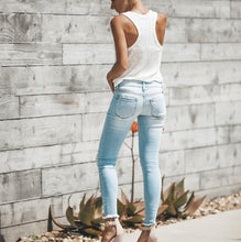 Fashion Ripped Denim Slim Jeans