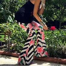 Slim And Casual Printed Bell Bottoms