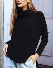 Pure Color Scarf Neck Knit Sweater Knitted Sweater