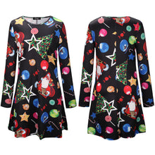 Christmas Lucky Star Snow Ball Christmas Print Dress Parent-Child Skirt