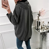 Fashion Zipper Solid Color Cardigan Coat Dark Grey m
