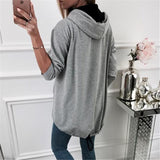 Fashion Zipper Solid Color Cardigan Coat Dark Grey 2xl