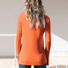 Fashion Long Sleeve V-Neck T-Shirt
