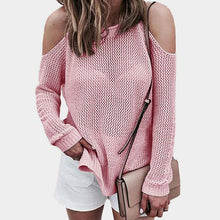 Fashion Knitted Open Strap Sweater