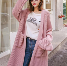 Fashion Knit Loose Large Sweater Cardigan