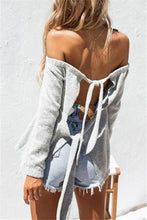 Fashion Sexy Long Sleeve Off Shoulder Knit Top
