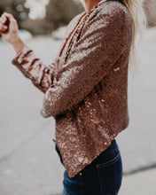 Fashion Stand Up Collar Coat With Sequins
