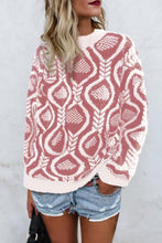 Fashionable Loose Round Neck Sweater Knitted Sweater