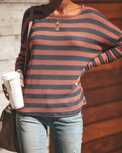 Fashion Striped Casual With Open-Back T-Shirts