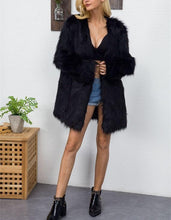 Fashion Pure Color V Collar Imitation Fur Coat Women's Long Plush Coat