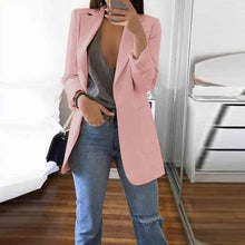 Fashion Solid Color Long-Sleeve Pocket Suit