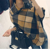 Plaid Shawl Large Size   Stitched Woolen Cloak Coat Same As Photo 2xl