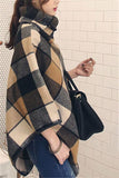 Plaid Shawl Large Size   Stitched Woolen Cloak Coat Same As Photo s