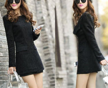 Pure Color Sexy Slim Woolen Coat