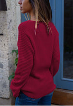 Autumn And Winter Fashion V Collar Loose Long-Sleeved Sweater
