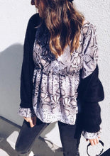 Autumn And Winter Fashion Snake Print Long-Sleeve Shirt