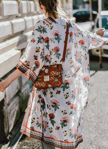 Fashion Casual Printed Chiffon Sun Protection Shirt Cardigan Kimono Same As Photo l