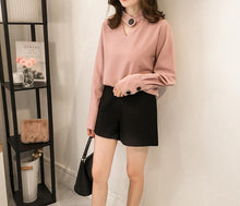Fashion Casual Pure Color Hollow Ring Hanging Neck Chiffon Shirt Top T-Shirt