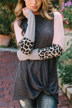 Fashion Casual Leopard Print Loose Long Sleeve T-Shirt