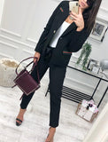 Fashion Casual Slim Trim And Splice Small Suit Jacket With Lapels Red s