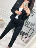 Fashion Casual Slim Trim And Splice Small Suit Jacket With Lapels Red m