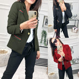 Fashion Casual Slim Trim And Splice Small Suit Jacket With Lapels Black m